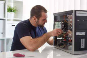 Computer Engineer Working On CPU