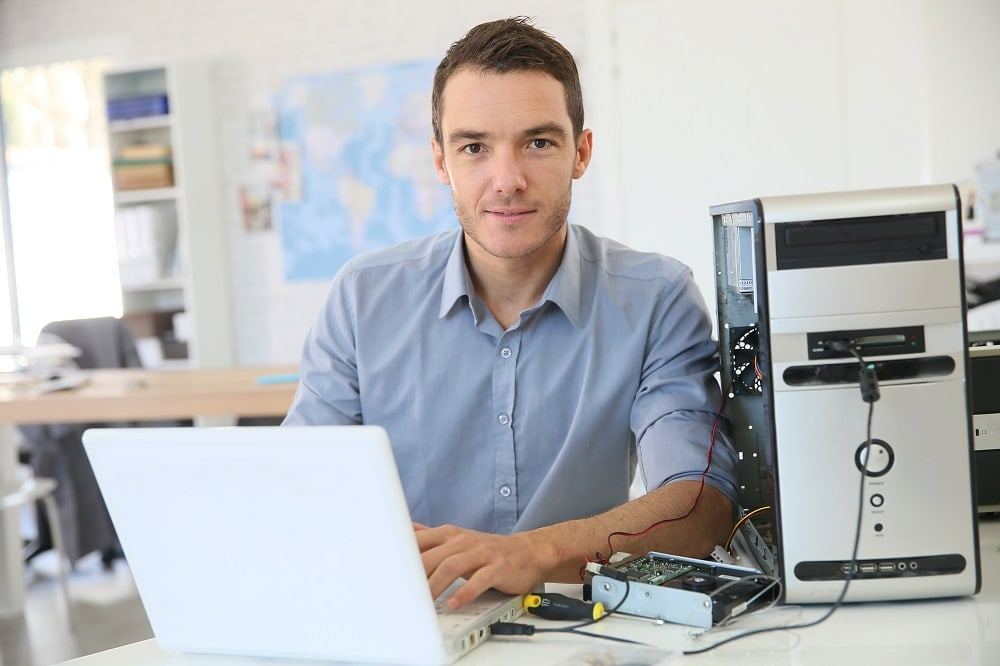 Computer Engineer Working On a Laptop
