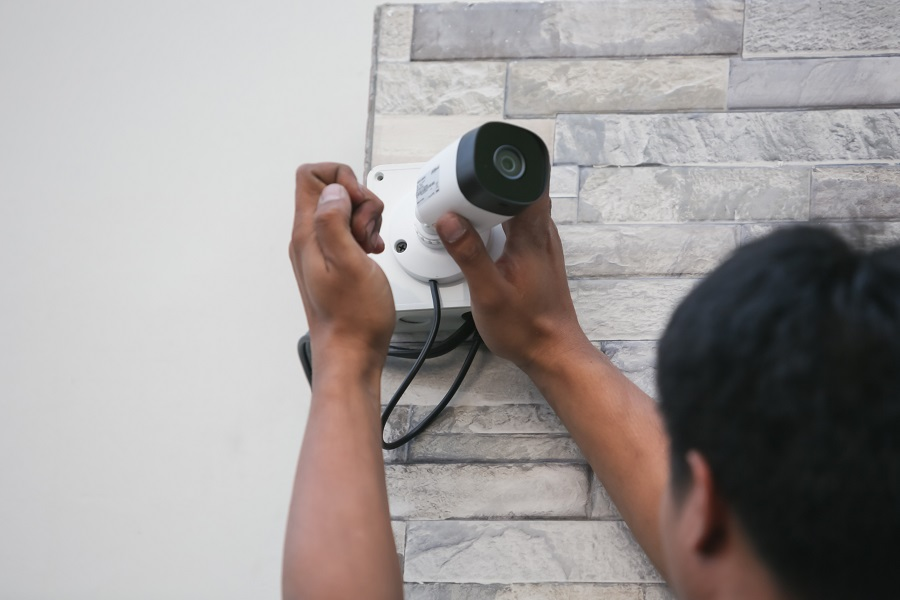 Installing security camera for an office