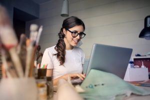 Small Business Woman on Her Laptop